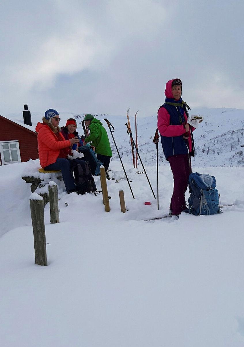 Skitur til Ospehaugen - Remlo - Fjosestølen, 31. januar 2021. Sundagstur.