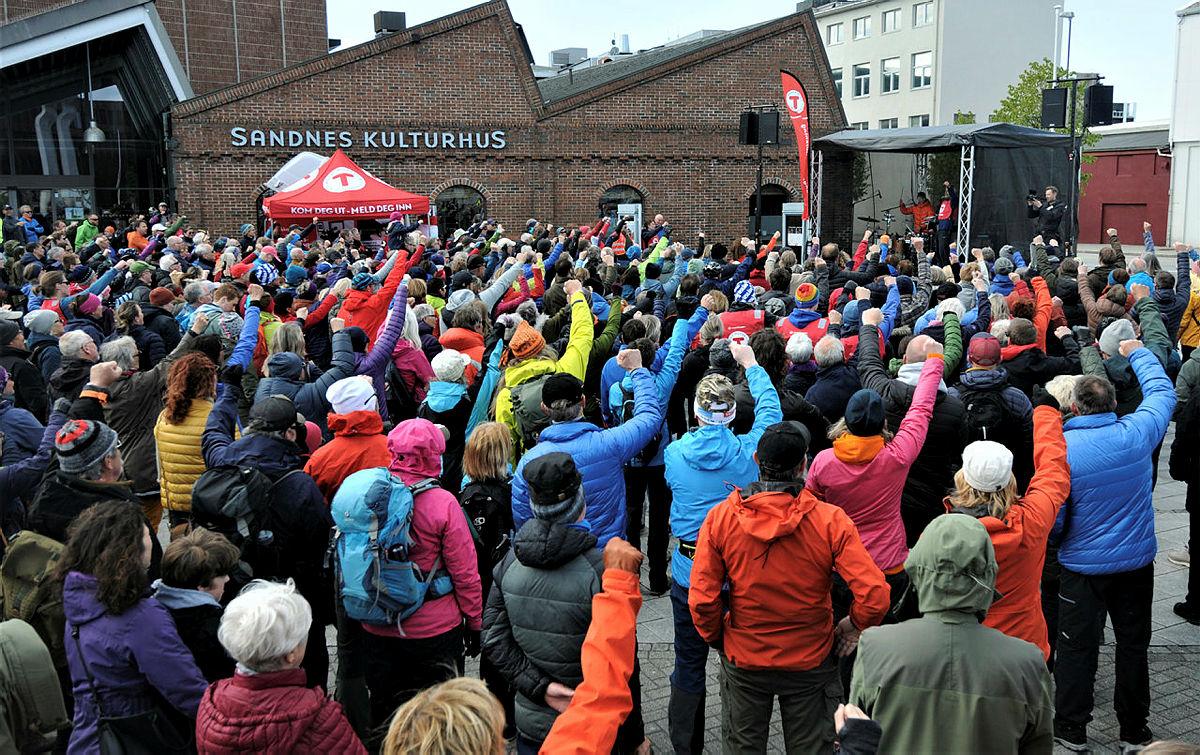 Demonstrasjon og støttemarsj i Sandnes 12. mai 2019.