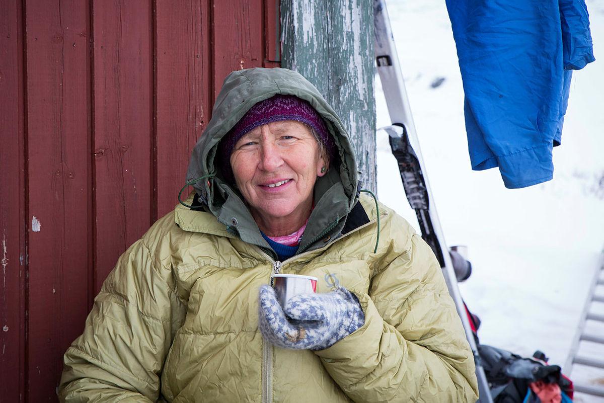 Marianne Pedersen setter pris på en god samtale i fjellet.