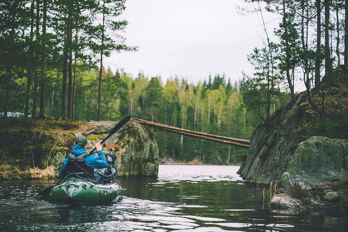 Packraft i Østmarka, mai 2021.
