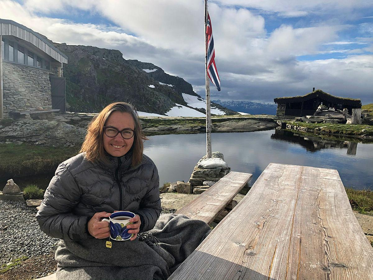 Elisabeth Skage var hyttevert på Breidablik i sommer.