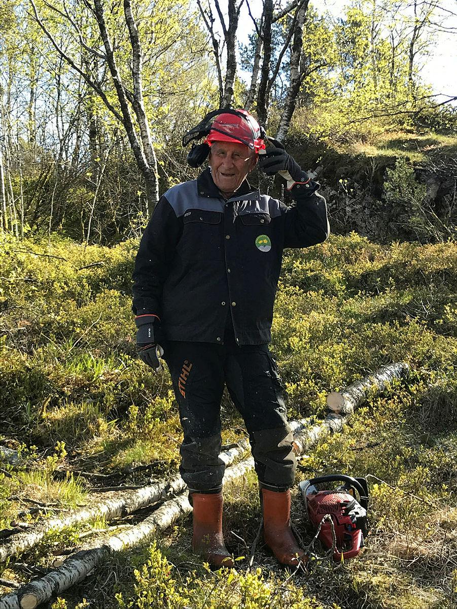 Christian Rieber i Smøråfjellets Venner, mai 2020.