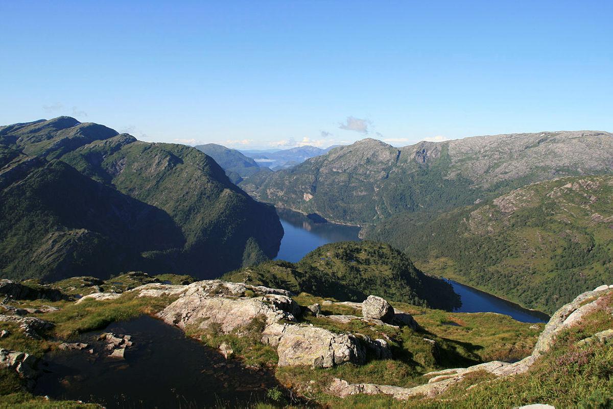 Utsikt fra stien mellom Mo og Skavlabu.