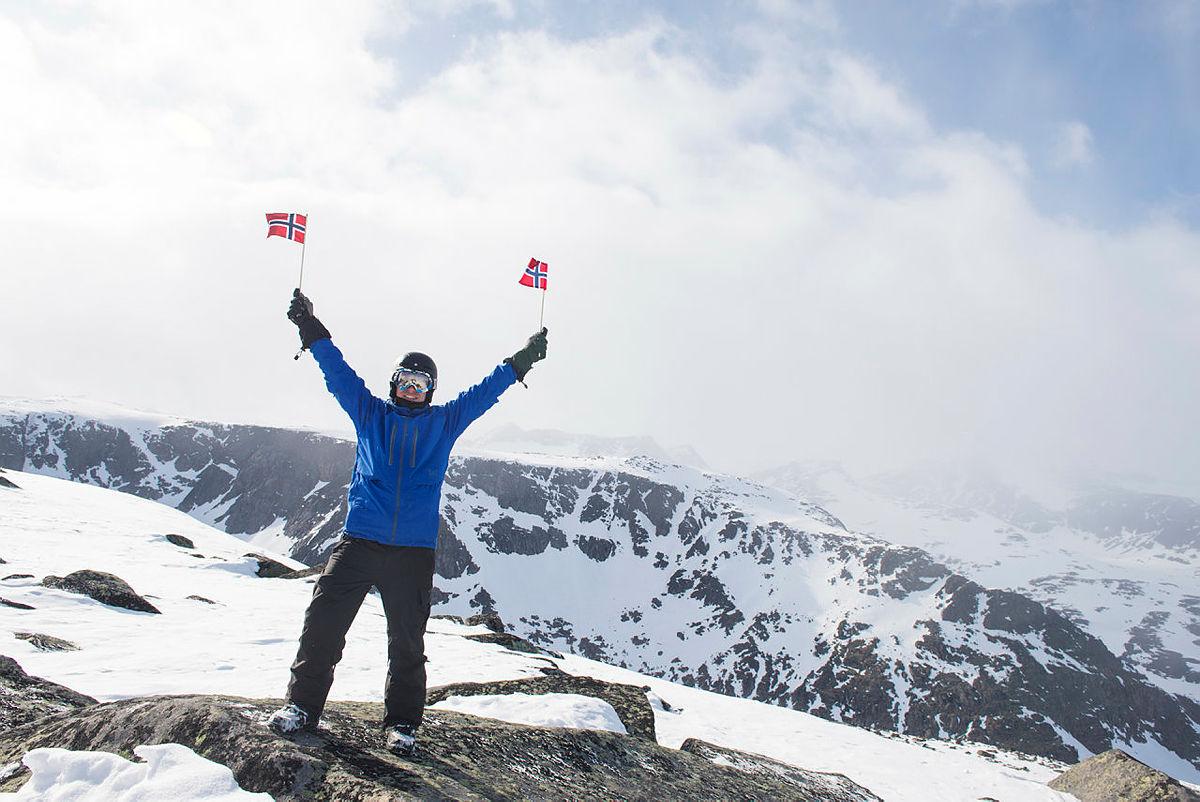 Fra toppen av Rasletind i Jotunheimen.