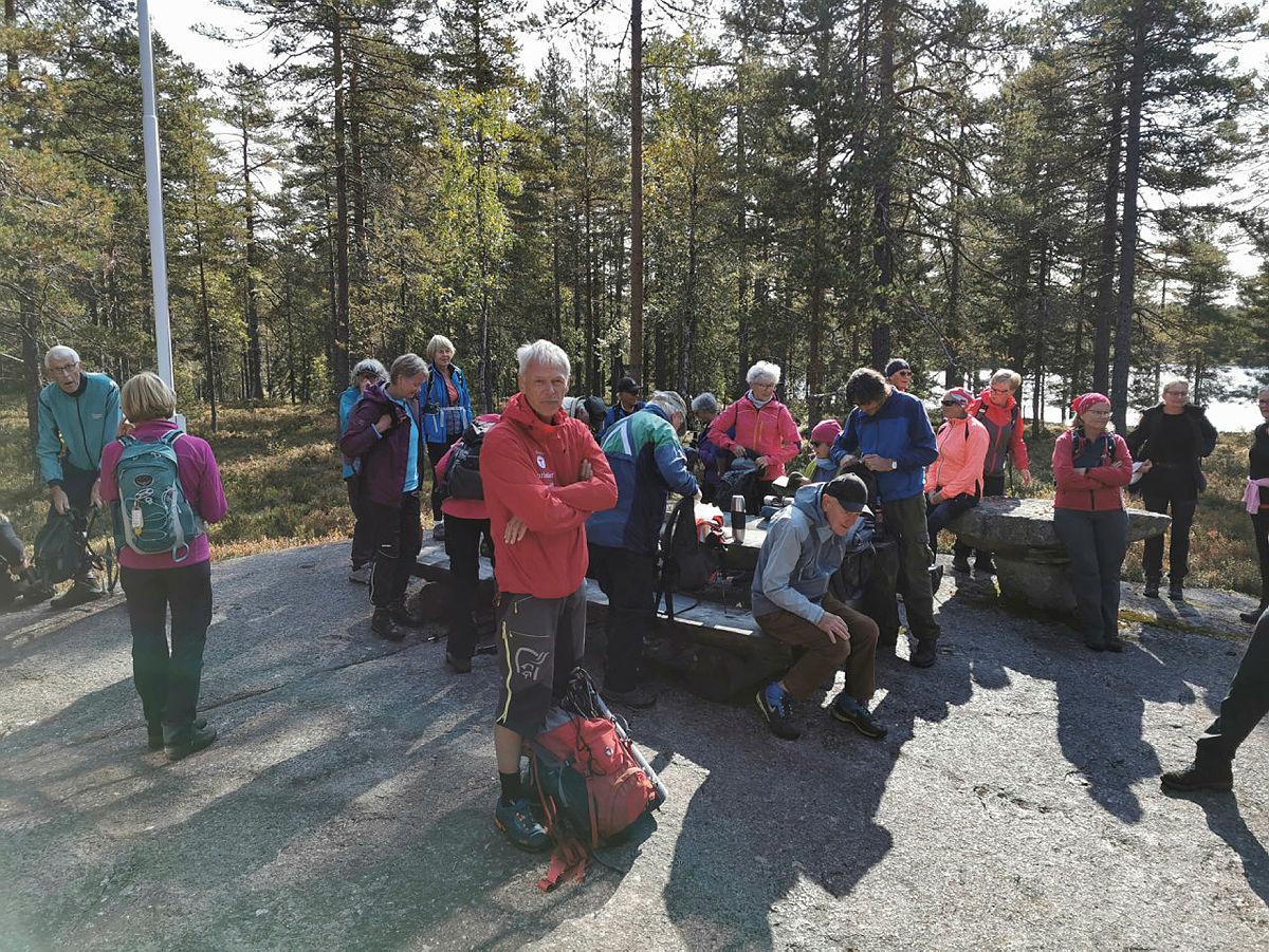 Turgruppa Ut på tur Lier på hytta Leiken ved Marivann