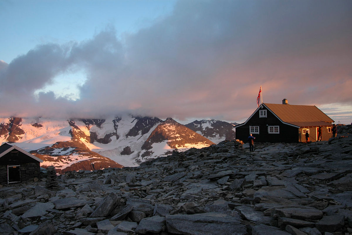 Solnedgang på Fannaråken.