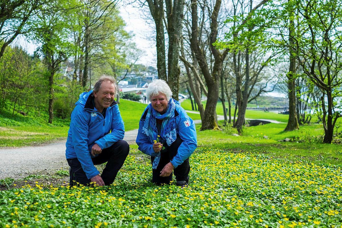FAVORITT: Einar og Ingrid Qverneland har Madlasandnesturen som sin favorittur blant 52 hverdagsturer i Stavanger.