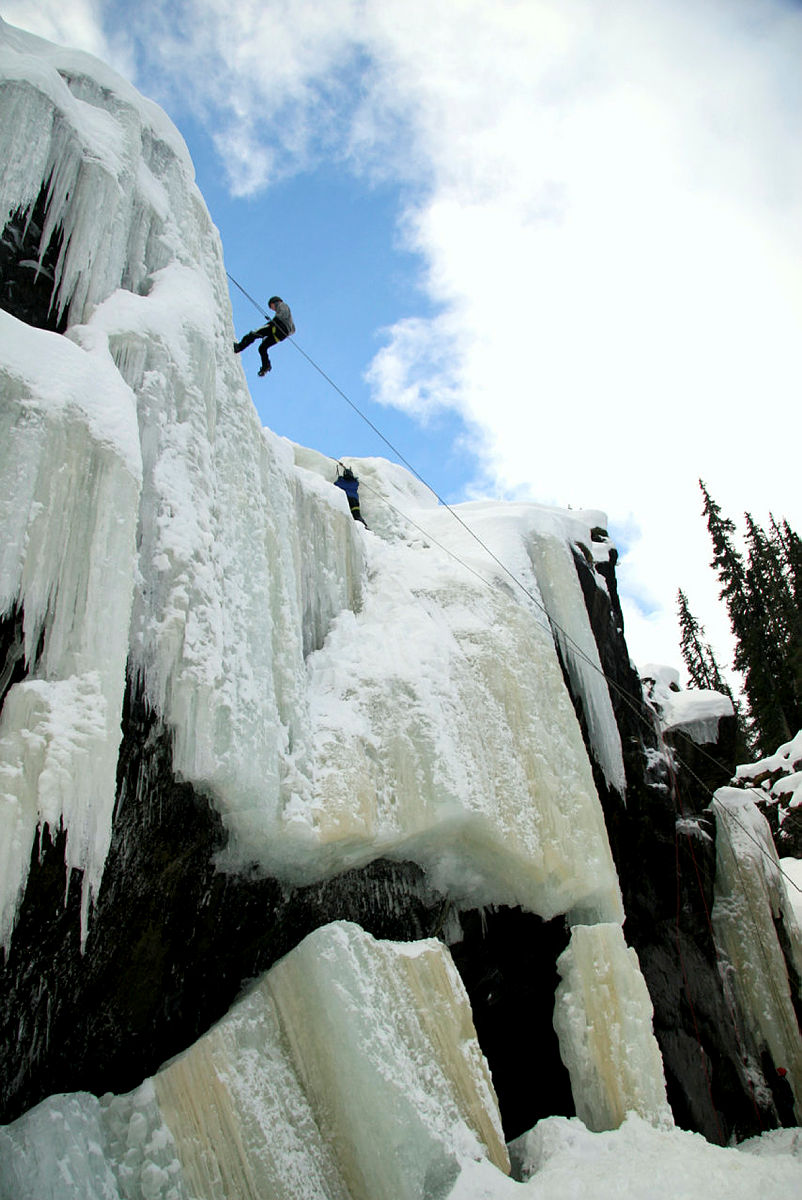 Nedfiring etter isklatring i januar 2011.Fotokonkurranse vinter 2011