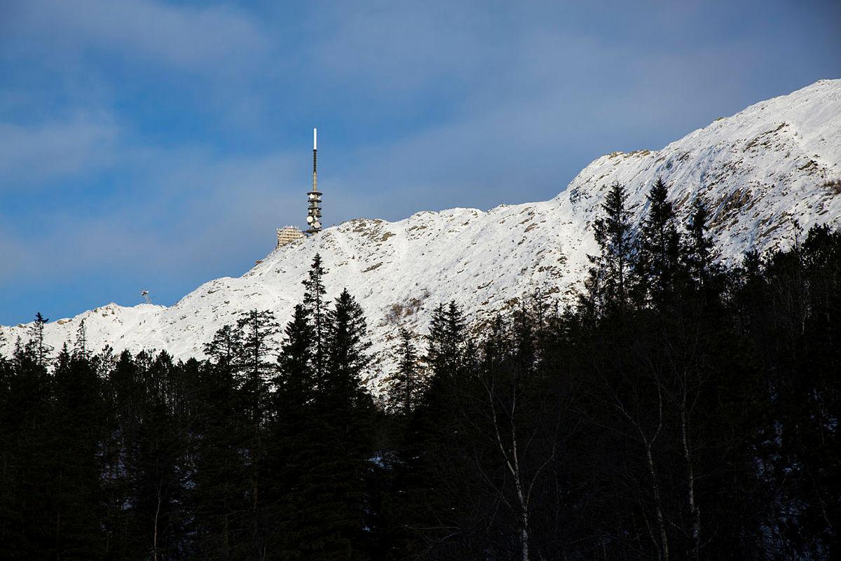 Skitur fra Ulriken over Vidden, via Valhal og Hauggjelsvarden, til Fløyen.