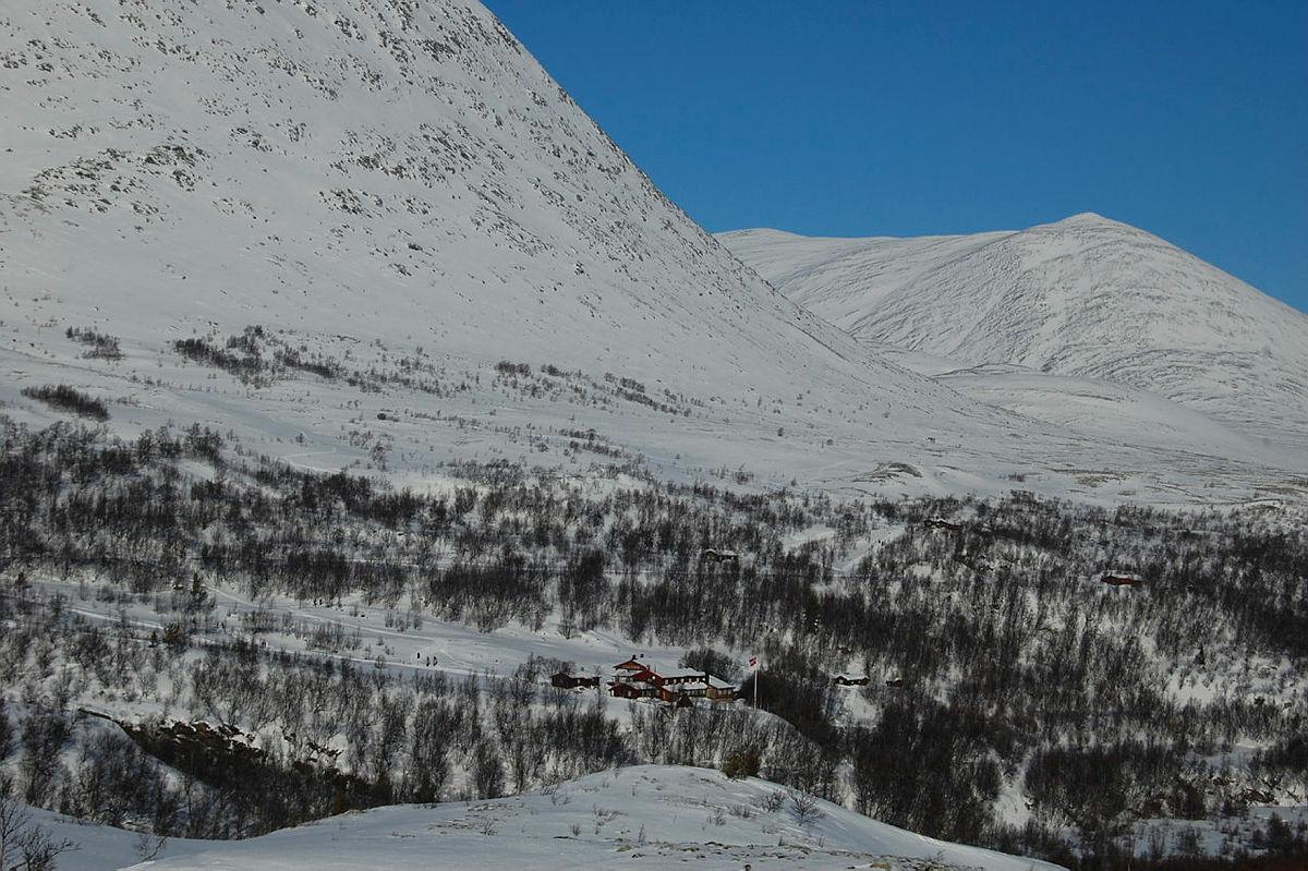 Bjørnhollia en vinterdag.