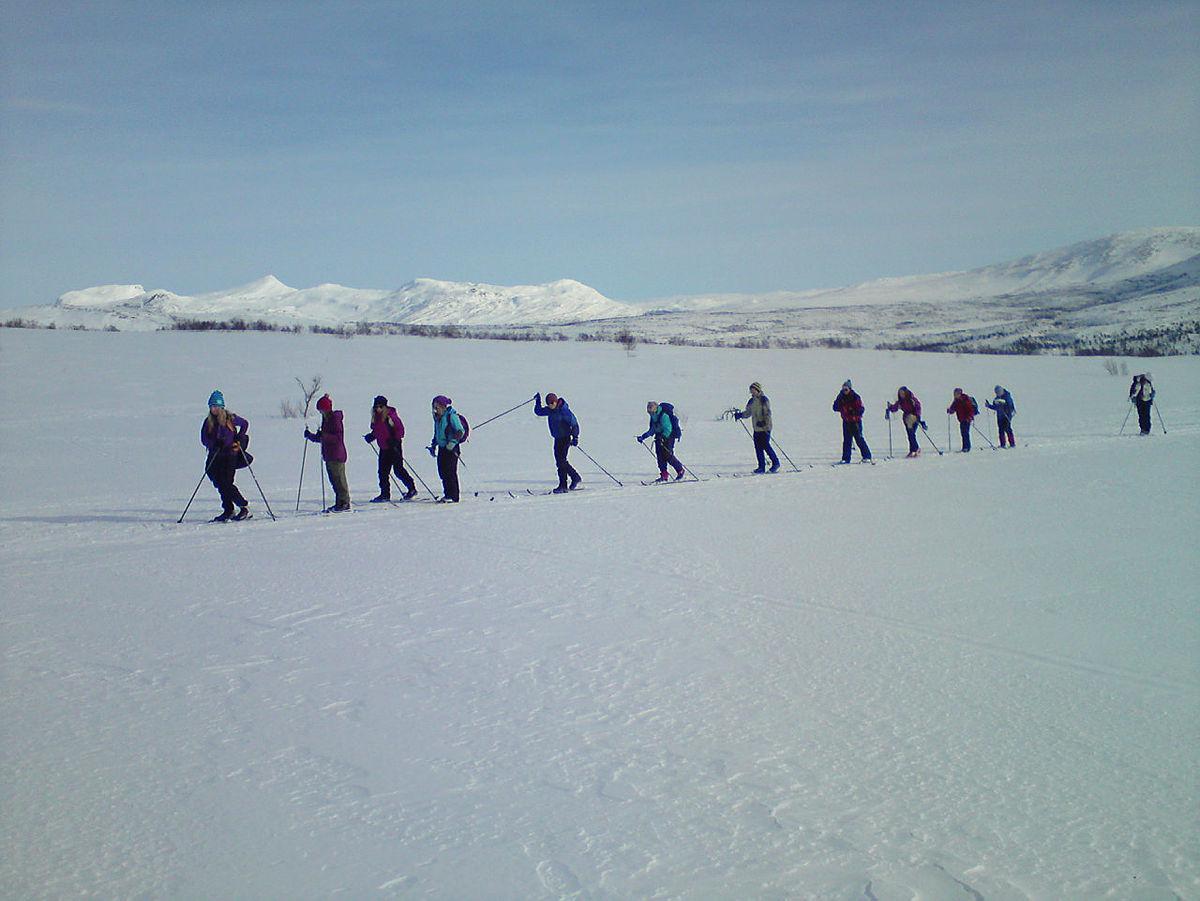 Vinterferie på Saltfjellet i regi av Bodø og Omegns turistforening.