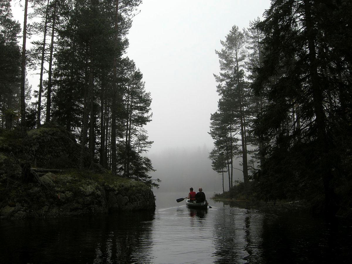 Padletur i Østmarka.