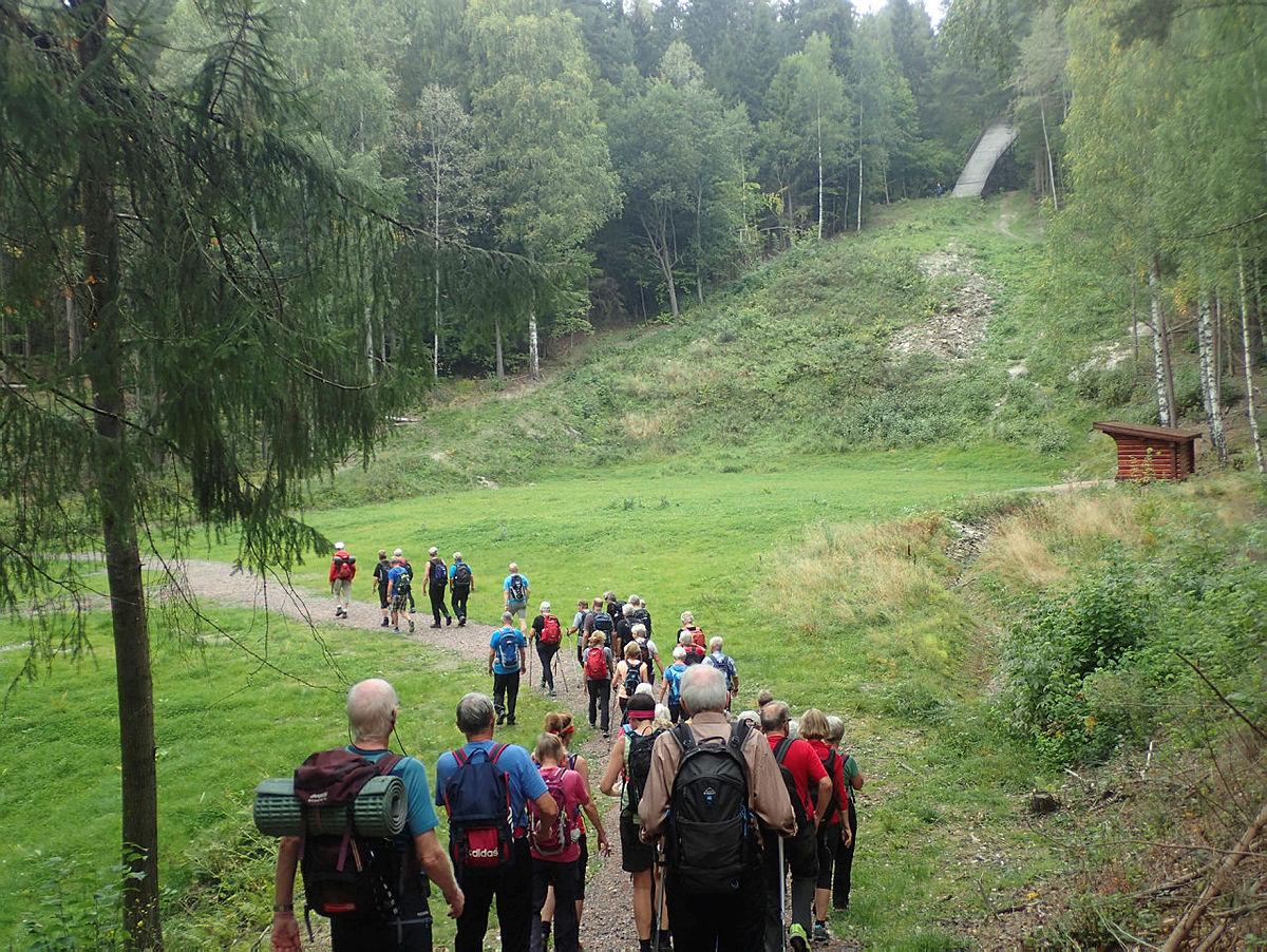 Turgruppa ut på tur Drammen i Hamborgstrømskogen og Bragernesåsen i Drammen