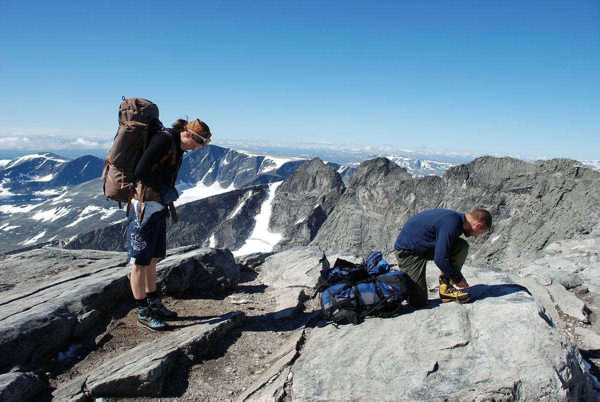 Pause på toppen av Snøhetta.