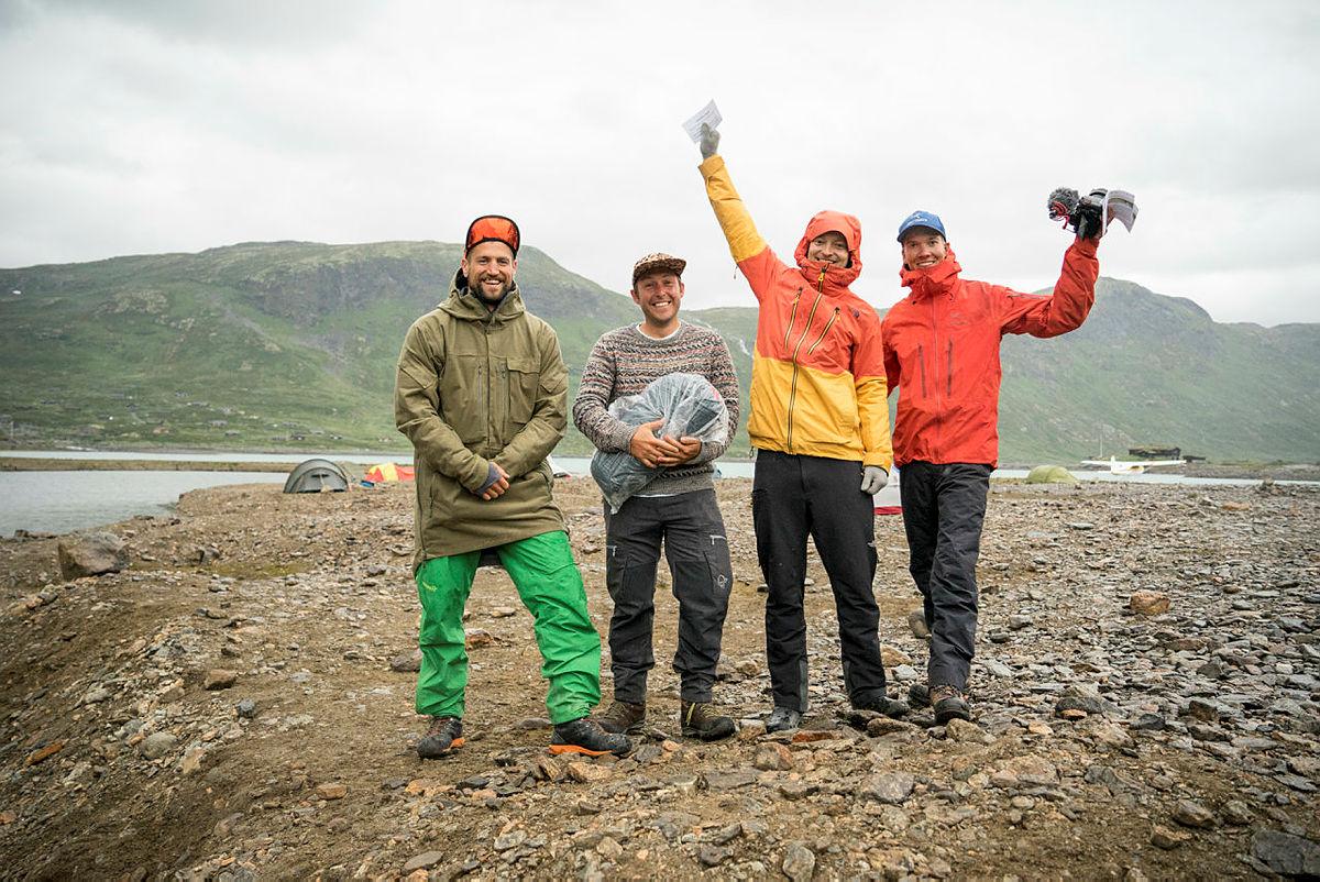 Vinnere av Gnagsårprisen på Vinjerock: Elliot Awin og Sean Carey, Runar Skagestad og Sindre Kolbjørnsgard.
