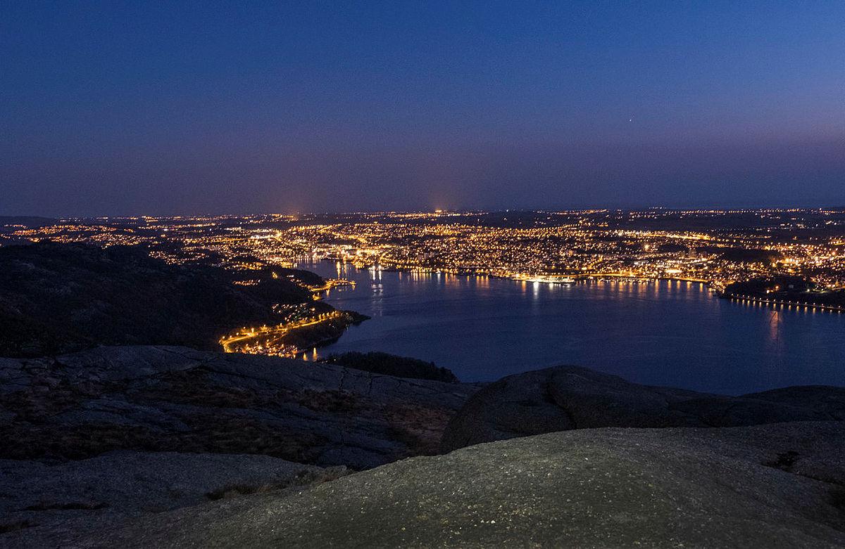Utsikt fra Dalsnuten i Rogaland.