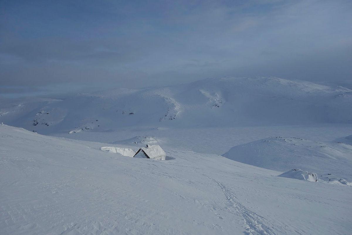 Mykje snø ved Nansenbu, 27. februar 2020.