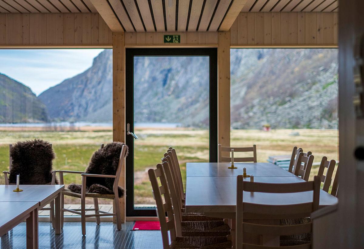 Spisestue, ny turisthytte Viglesdalen