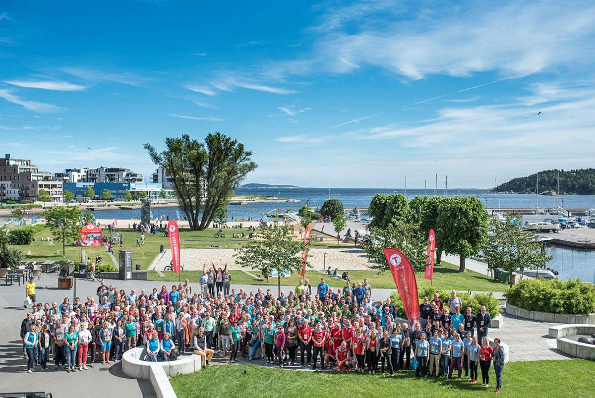 Her er landsmøtedelegatene samlet til DNTs landsmøte i Kristiansand i 2017.