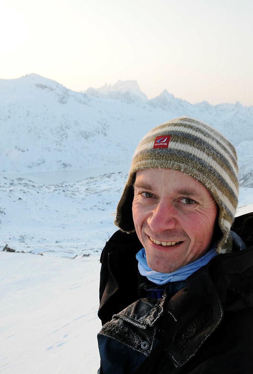 Trond Løkke, lederen i Vesterålen turlag.