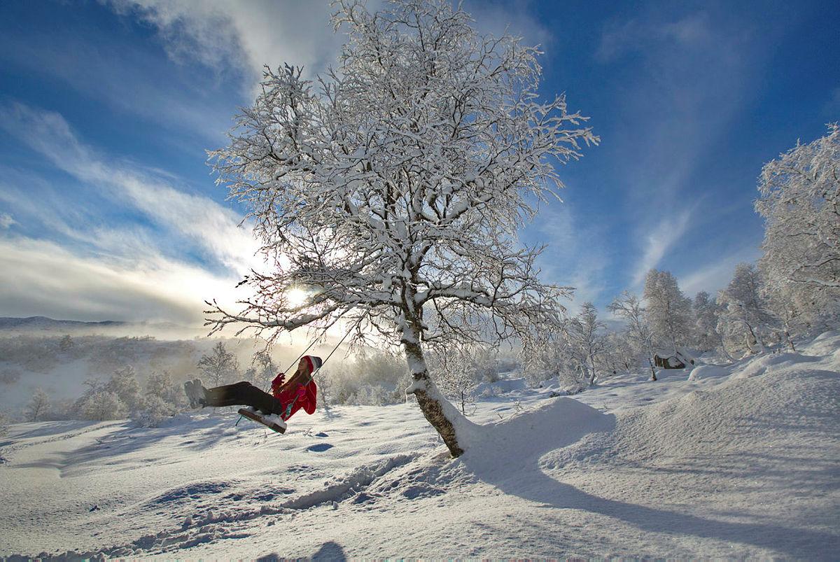 Fantastisk desemberdag på fjellet i Sirdal. Finalister fra fotokonkurransen. Vinter 2017.