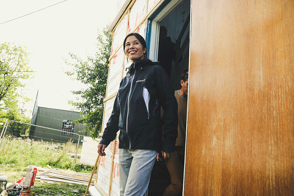 Henning Hoff Wikborg på befaring på Gressholmen sammen med Lan Marie Nguyen Berg torsdag 10 september 2020.