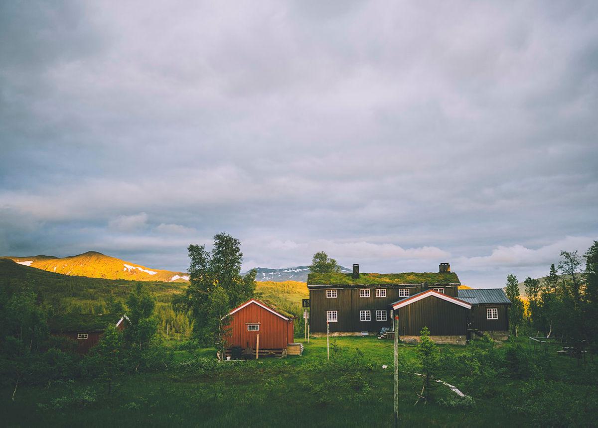 Schulzhytta ligger i hjertet av Roltdalen og Skarvan Nasjonalpark.